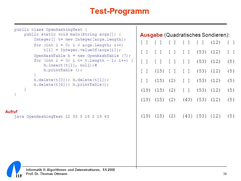 Test-Programm public class OpenHashingTest { public static void main(String args[]) { Integer[] t= new Integer[args.length];